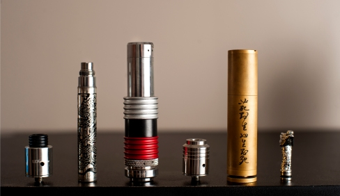 ST State student Andrew Yu's Vape collection. Photo by Benjamin Kamps / Xpress